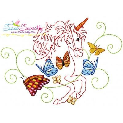 Magic Unicorn-6 Embroidery Design