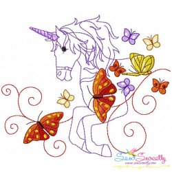 Magic Unicorn-7 Embroidery Design