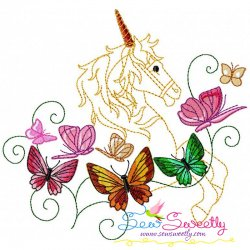 Magic Unicorn-8 Embroidery Design