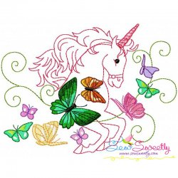 Magic Unicorn-9 Embroidery Design