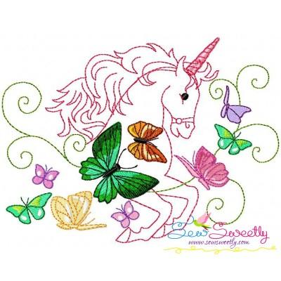 Magic Unicorn-9 Embroidery Design