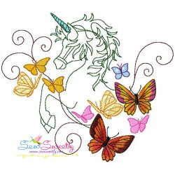 Magic Unicorn-10 Embroidery Design