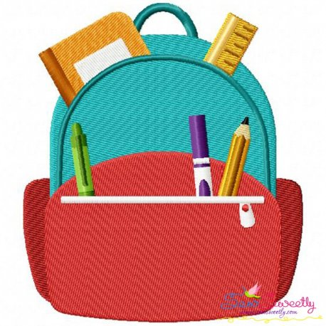 Backpack Machine Embroidery Design