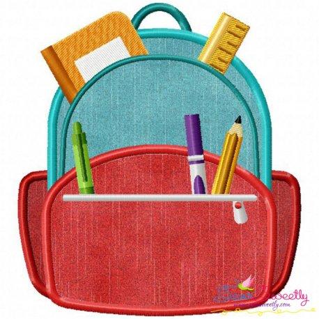 Backpack Applique Design