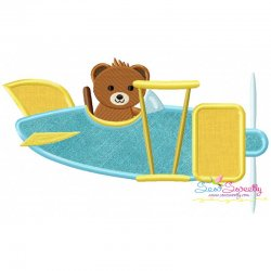 Teddy Bear Pilot Applique Design