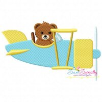 Teddy Bear Pilot Embroidery Design