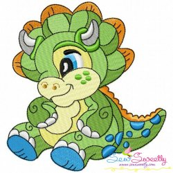 Baby Dinosaur-6 Embroidery Design