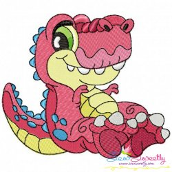 Baby Dinosaur-1 Embroidery Design