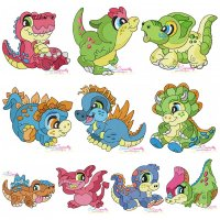 Baby Dinosaurs Embroidery Design Bundle