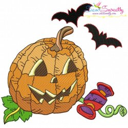 Halloween Pumpkin-10 Embroidery Design