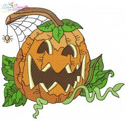Halloween Pumpkin-6 Embroidery Design