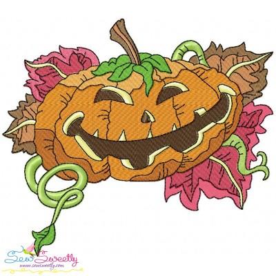 Halloween Pumpkin-5 Embroidery Design