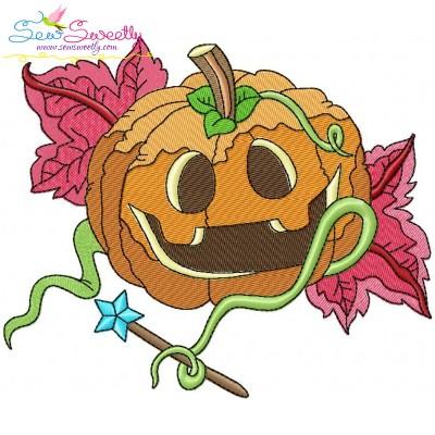 Halloween Pumpkin-4 Embroidery Design