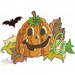 Halloween Pumpkin-3 Embroidery Design