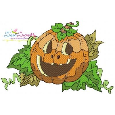 Halloween Pumpkin-2 Embroidery Design