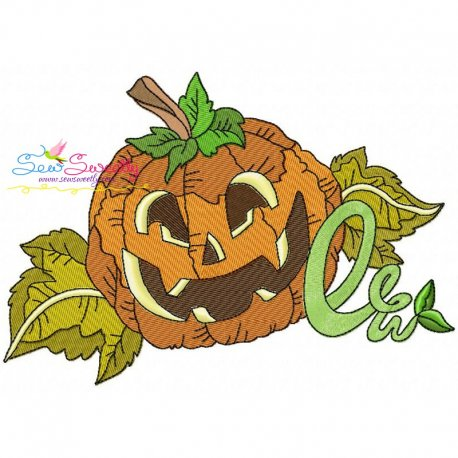 Halloween Pumpkin-1 Embroidery Design