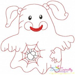 Vintage Stitch Little Ghost-6 Embroidery Design