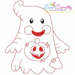 Vintage Stitch Little Ghost-5 Embroidery Design