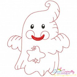 Vintage Stitch Little Ghost-2 Embroidery Design