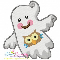 Little Ghost-10 Embroidery Design
