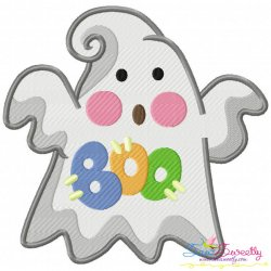 Little Ghost-8 Embroidery Design