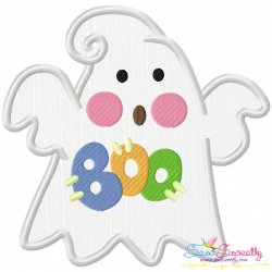Little Ghost-8 Applique Design