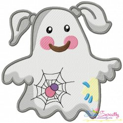 Little Ghost-6 Embroidery Design