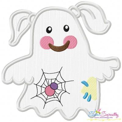 Little Ghost-6 Applique Design