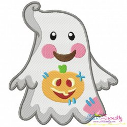 Little Ghost-5 Embroidery Design