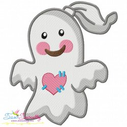 Little Ghost-3 Embroidery Design