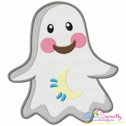 Little Ghost-1 Embroidery Design