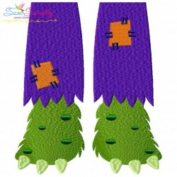 Monster Feet Embroidery Design