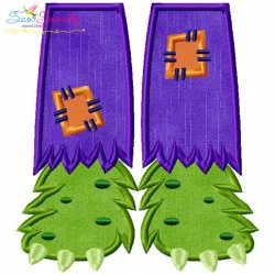 Monster Feet Applique Design