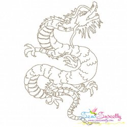 Vintage Stitch Chinese Dragon-10 Embroidery Design