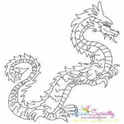 Vintage Stitch Chinese Dragon-9 Embroidery Design