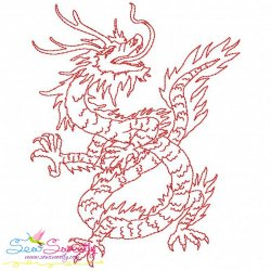 Vintage Stitch Chinese Dragon-8 Embroidery Design