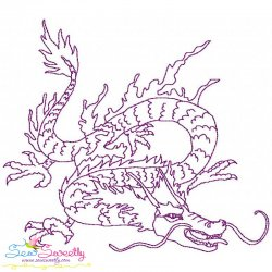 Vintage Stitch Chinese Dragon-6 Embroidery Design