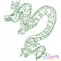 Vintage Stitch Chinese Dragon-5 Embroidery Design