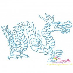 Vintage Stitch Chinese Dragon-4 Embroidery Design