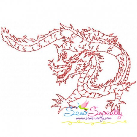 Vintage Stitch Chinese Dragon-2 Embroidery Design