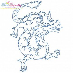 Vintage Stitch Chinese Dragon-1 Embroidery Design