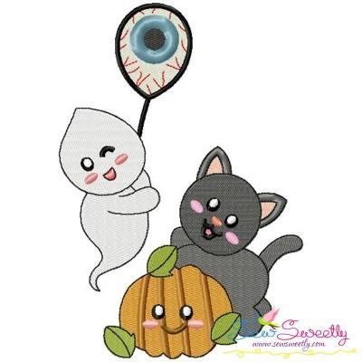 Halloween Friends-10 Embroidery Design