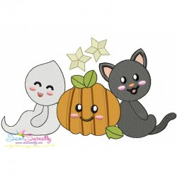 Halloween Friends-8 Embroidery Design