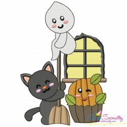 Halloween Friends-7 Embroidery Design