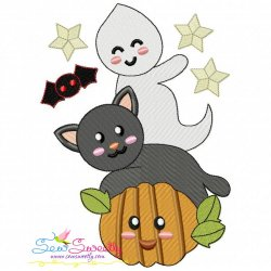Halloween Friends-6 Embroidery Design