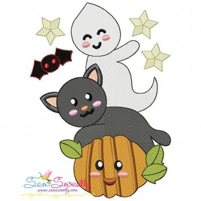 Halloween Friends-6 Embroidery Design