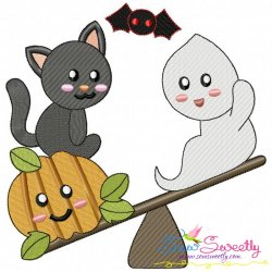 Halloween Friends-4 Embroidery Design
