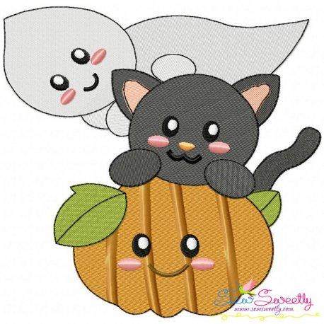 Halloween Friends-2 Embroidery Design