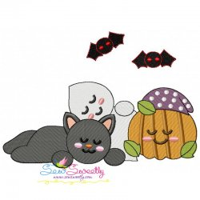 Halloween Friends-1 Embroidery Design