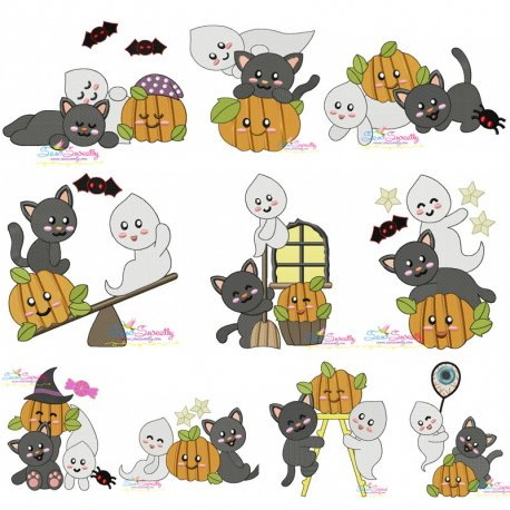 Halloween Friends Embroidery Design Bundle